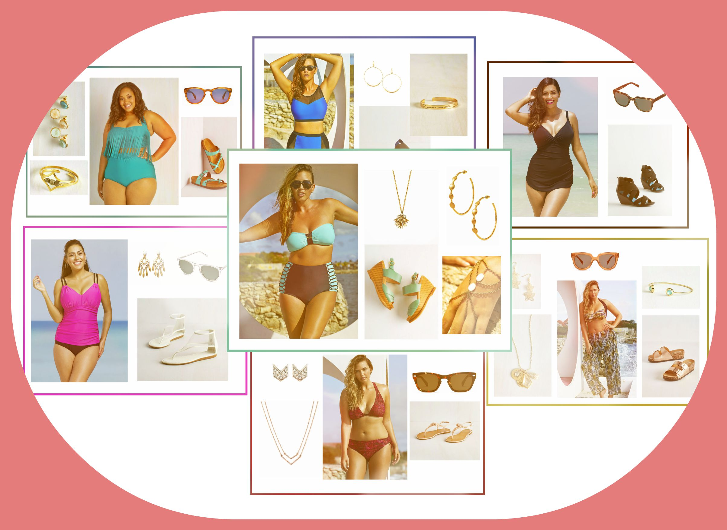 My Favorite Curvy Swimwear looks for under $100 and up to size 24!