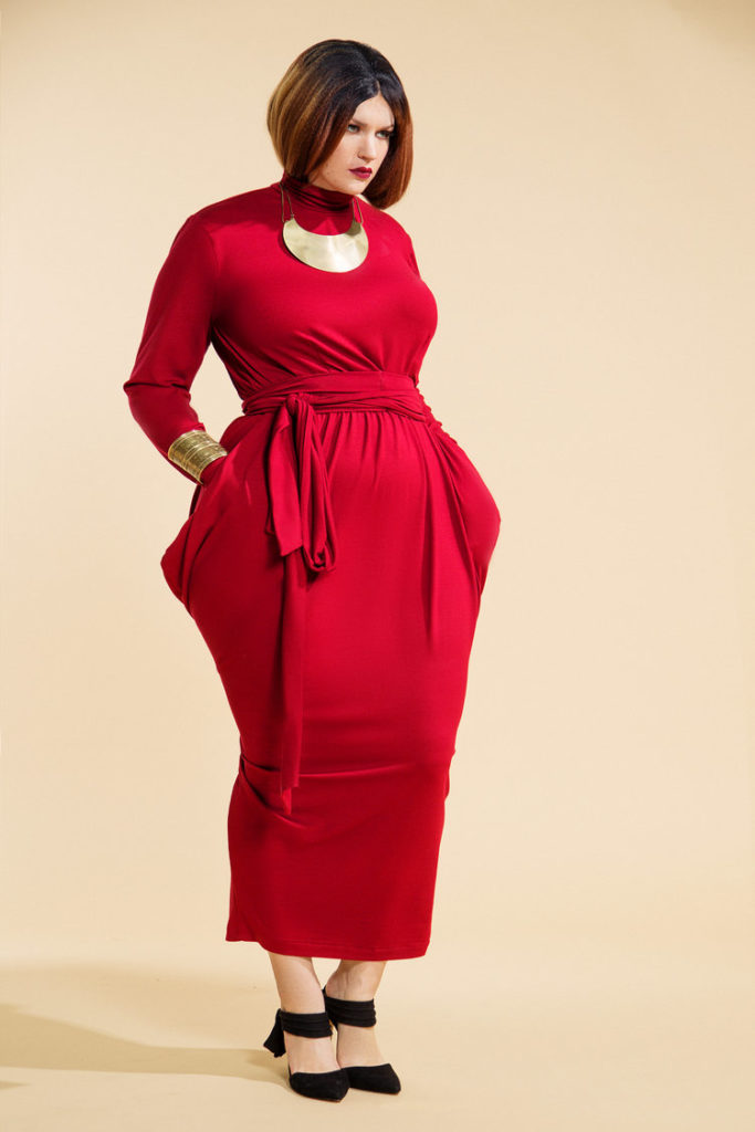 JIBRI Slouch LS T Neck Dress